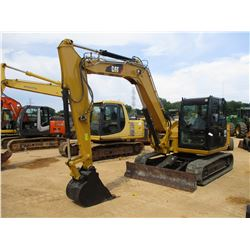 "2015 CAT 308E2 CR MINI EXCAVATOR, VIN/SN:FJX02770 - 7' STICK, 24"" BUCKET, AUX HYD, BLADE, RUBBER TRA"