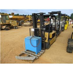CAT EP20KT FORKLIFT, VIN/SN:ETB5B50007 - ELECTRIC, 825# CAPACITY, DOUBLE STAGE MAST, CANOPY, CHARGER