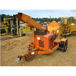 "2010 MIDSOUTH 12"" CHIPPER, - MTD ON S/A TRAILER, DIESEL ENGINE, METER READING 1,344 HOURS"