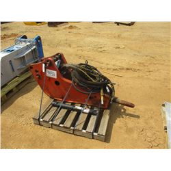 RAMMER S25 HYDRAULIC HAMMER, VIN/SN:25AAA0005 - W/HOSES, REMOTE & EXTRA CHISEL POINT