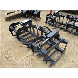 (UNUSED) 6' BRUSH GRAPPLE W/TOP CLAMPS