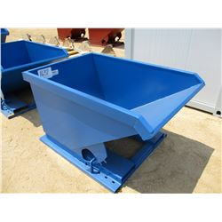 STANDARD DUTY 1 CU YD STACKABLE SELF DUMPING HOPPER, 4,000# CAPACITY