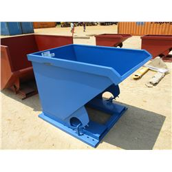 STANDARD DUTY 1.5 CU YD SELF DUMPING HOPPER, 4,000# CAPACITY