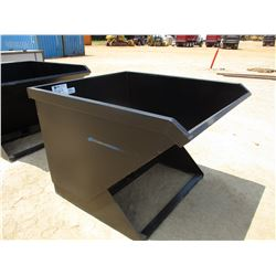 2 CU YD TRASH HOPPER, FITS SKID STEER LOADER
