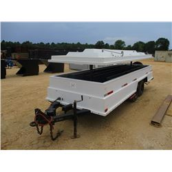 CONTRACTORS TRAILER, VIN/SN:85604 - 6' X 18' T/A ELECTRIC TOP 8-14.5 TIRES