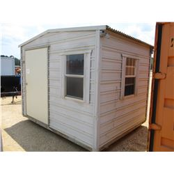 8' X 10' METAL BUILDING WITH DOOR AND WINDOWS