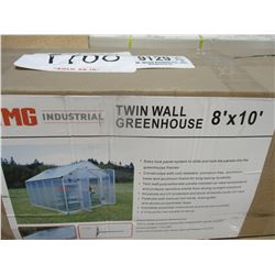 GREEN HOUSE, - 8' X 10', TWIN WALL