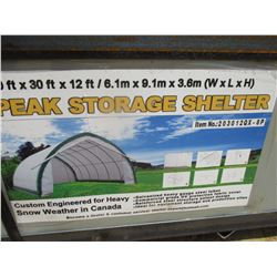 20' X 30' PEAK STORAGE SHELTER