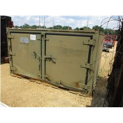 "MILITARY TYPE SHIPPING CONTAINER, 84""X104"""
