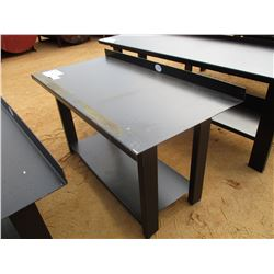 "29"" X 60"" METAL WORK TABLE W/SHELF"