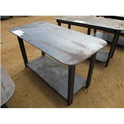 HEAVY DUTY 30X57 WELDING SHOP TABLE W/SHELF