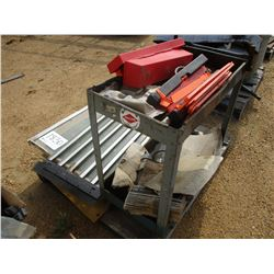 MISC METAL CART, WINDOW, SAFETY TRAINGLE