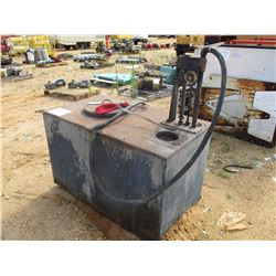 FUEL TANK, - 150 GALLON, HAND PUMP & HOSE