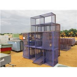 (3) EXPANDED METAL STORAGE CAGE