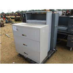 (3) METAL FILE CABINETS