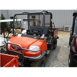 2011 KUBOTA 900T SIDE BY SIDE, VIN/SN:A5KB1FDALBG0C3010 - 4X4, DIESEL ENGINE, ROLL BAR, HYD DUMP BED