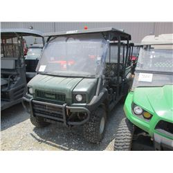 2015 KAWASAKI MULE 4010 SIDE BY SIDE, VIN/SN:JK1AFCR10FB525924 - 4X4, GAS ENGINE, WINDSHEILD, CANOPY