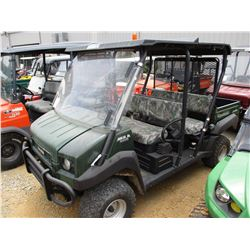 2015 KAWASAKI 4010 SIDE BY SIDE, VIN/SN:JK1AECR13FB525898 - 4X4, GAS ENGINE, WINDSHIELD, DUMP BED, M