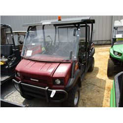 2015 KAWASAKI MULE 4010 SIDE BY SIDE, VIN/SN:JK1AFCR15FB523909 - 4X4, WINDSHIELD, CANOPY, REAR DUMP