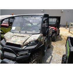 2014 POLARIS RANGER XP UTV, VIN/SN:4XAUH88A8EG345319 - 4X4, WINDSHIELD, DUMP BED, METER READING 481