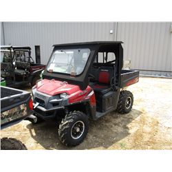 2012 POLARIS VIN/SN:4XATH76A7CE636153 - GAS ENGINE, CANOPY, WINDSHIELD, DUMP BED, METER READING 1,47