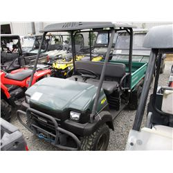 2007 KAWASAKI 3010 MULE UTV, - 4X4, WINCH, DUMP BED, CANOPY (WINCH CONTROL IN SECURITY OFFICE)