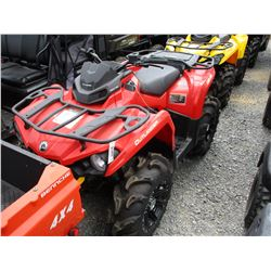 2016 CAM-AM OUTLANDER 450 4-WHEELER, VIN/SN:3JBLGAR28GJ002013 - 4X4, ODOMETER READING 62 MILES