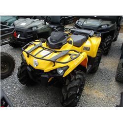 CAN AM OUTLANDER 570 FOUR WHEELER, VIN/SN:3JBLGAT23GJ001618 - 4X4, ODOMETER READING 51 MILES