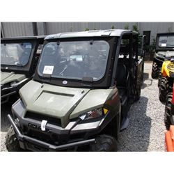 POLARIS RANGER XP900 VIN/SN:4XARUY870FB312688 - 4X4, CREW CAB, WINDSHIELD, CANOPY, DUMP BED, METER R