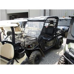 BAD BOY BUGGY AMBUSH, VIN/SN:3098797 - GAS/ELECTRIC HYBRID, 4X4 CANOPY, WINDSHIELD, REAR SEAT, FRONT