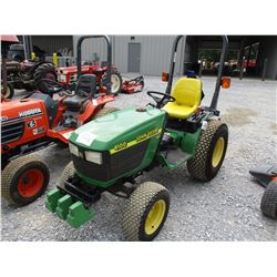 JOHN DEERE 4100 FARM TRACTOR, VIN/SN:314747 - 3 PTH, PTO, 315/75D15 TIRES, METER READING 476 HOURS