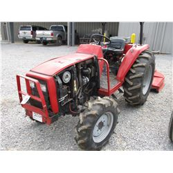 MASSEY FERGUSON FARM TRACTOR, VIN/SN:JH0810 - 3 PTH, PTO, 14.9-24 TIRES, METER READING 1,866 HOURS