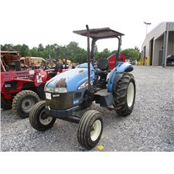 2004 NEW HOLLAND TT55 FARM TRACTOR, VIN/SN:T00100M - 3 PTH, PTO, CANOPY, 14.9-28 REAR TIRES, METER R