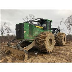 2016 JOHN DEERE 948L SKIDDER, - DUAL ARCH, WINCH, ECAB W/AC, 35.5 TIRES, METER READING 3,850 HOURS (