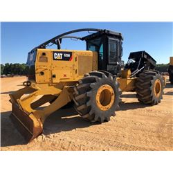 2015 CAT 525D SKIDDER, VIN/SN:0GKP00196 - GRAPPLE, DUAL ARCH, WINCH, ECAB W/AC, 30.5-32 TIRES, METER