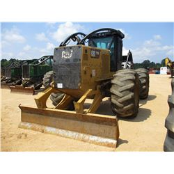 2016 CAT 525D SKIDDER, VIN/SN:GKP00399 - GRAPPLE, DUAL ARCH, WINCH, ECAB W/AC, 30.5L-32 TIRES, METER