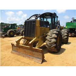 2007 CAT 525C SKIDDER, VIN/SN:52500265 - GRAPPLE, DUAL ARCH, WINCH, ECAB W/AC, 30.5-32 TIRES, METER