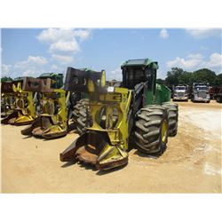 2014 JOHN DEERE 643K FELLER BUNCHER, VIN/SN:657661 - JOHN DEERE SAW HEAD, ECAB W/AIR, 28L-26 TIRES,
