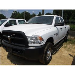 2015 DODGE 2500 PICK UP, VIN/SN:3C6TR5CTXFG585672 - 4X4, CREW CAB, HEMI 5.7 LITER GAS ENGINE, A/T, O