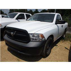 2014 DODGE RAM PICKUP, VIN/SN:3C6JR6AG8EG282634 - GAS ENGINE, A/T, ODOMETER READING 166,262 MILES
