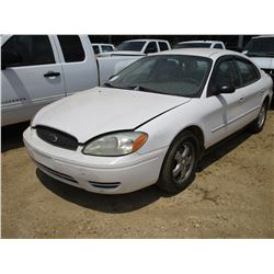 2005 FORD TAURUS VIN/SN:1FAFP53U15A224550 - GAS ENGINE, A/T
