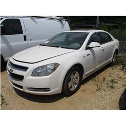 2008 CHEVROLET MALIBU VIN/SN:1G1ZF57598F265540 - HYBRID, GAS ENGINE, A/T, ODOMETER READING 181,196 M
