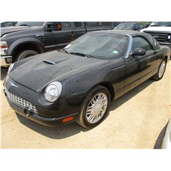 2002 FORD THUNDERBIRD VIN/SN:1FAHP60A62Y127341 - V8 GAS ENGINE, A/T, HARD TOP & STAND, SOFT TOP, ODO