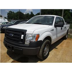 2011 FORD F150XL PICK UP, VIN/SN:1FTFW1CF4BFB28594 -CREW CAB, V8 GAS ENG, A/T, ODOMETER READING 166,