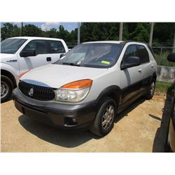 2004 BUICK RONDEVU, VIN/SN:3G5DB03E04S543664 - GAS ENGINE, A/T, ODOMETER READING 295,861 MILES
