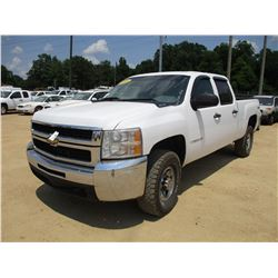 2008 CHEVROLET 2500HD PICK UP, VIN/SN:1GCHK23K08F140158 - 4X4, CREW CAB, V8 GAS ENGINE, A/T