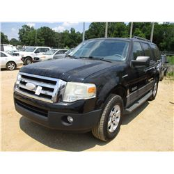 2007 FORD EXPEDITION VIN/SN:1FMFU15567LA75556 - GAS, A/T, ODOMETER READING 96,358 MILES (COUNTY OWNE