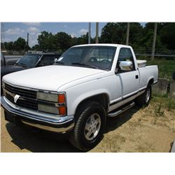1993 CHEVROLET 1500 VIN/SN:1GCEK14KXPZ196875 - 4X4, GAS, A/T, ODOMETER READING 213,332 MILES (COUNTY