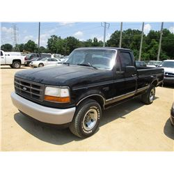 1995 FORD F150 PICKUP, VIN/SN:1FTEF15Y0SNB65108 - GAS ENGINE, 5 SPEED TRANS, ODOMETER READING 220,69