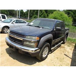 2004 CHEVROLET COLORADO LS PICK UP, VIN/SN:1GCDS136848107967 - CREW CAB, V6 GAS ENGINE, A/T, BED COV
